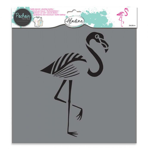 Pochoir textile Flamand Rose - 28 x 28 cm