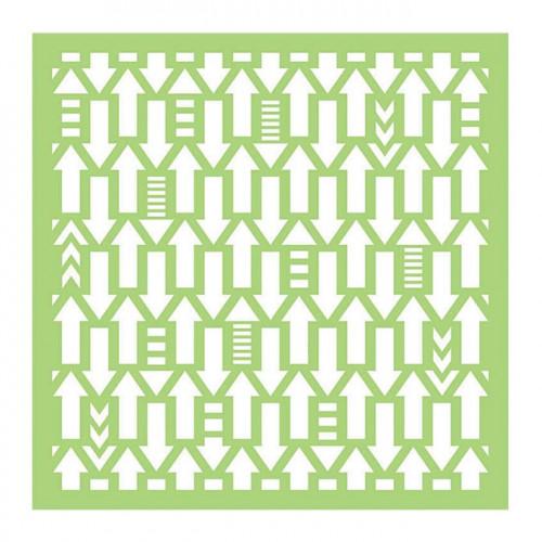 Pochoir Flèches - 15 x 15cm