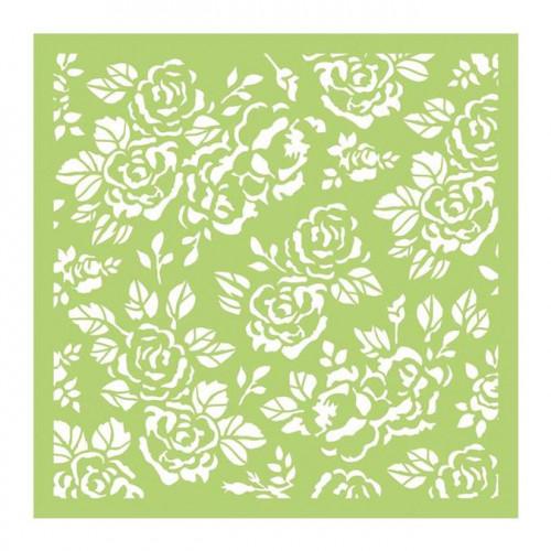 Pochoir Roses - 15 x 15 cm