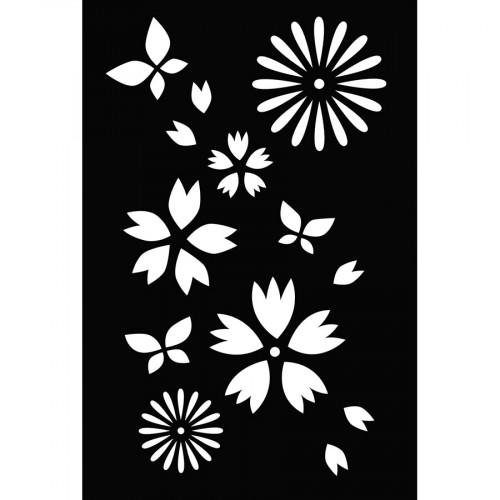 Pochoir Fleurs - 10 x 15 cm