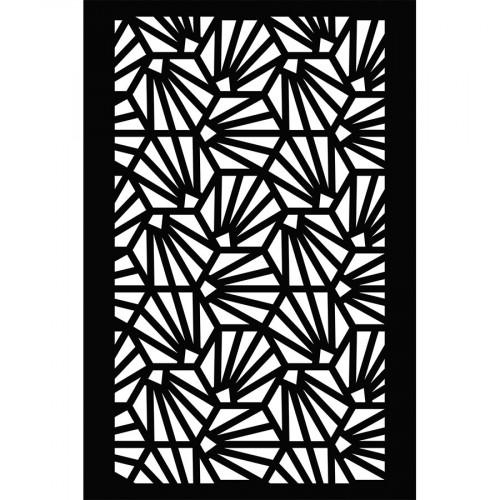 Pochoir Fond coquillages - 10 x 15 cm
