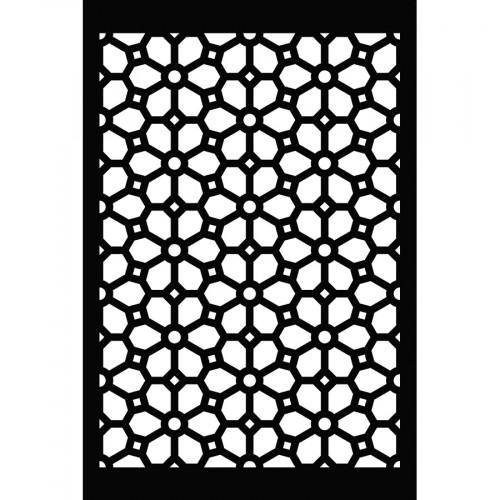 Pochoir Fond fleurs - 10 x 15 cm