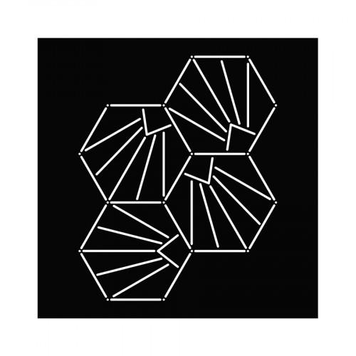 Pochoir Sashiko Coquillages - 15 x 15 cm
