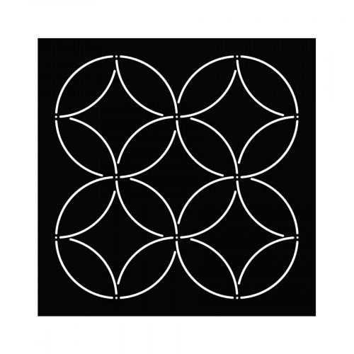 Pochoir Sashiko Ronds - 15 x 15 cm