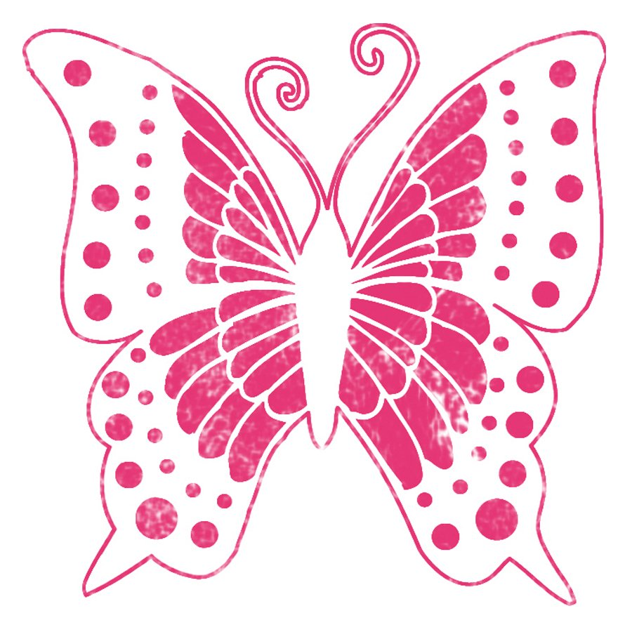 Pochoir Textile - Papillon