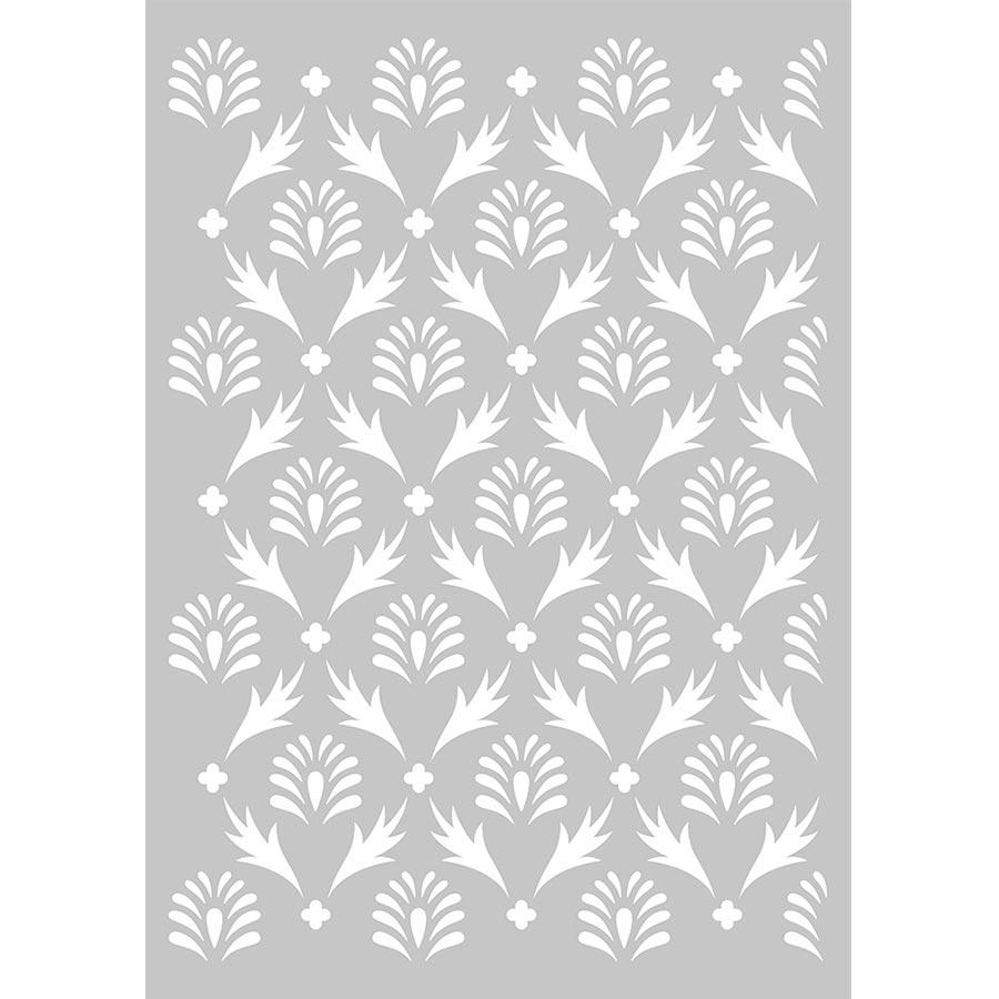 Pochoir Secret Garden motif Feuilles - A3