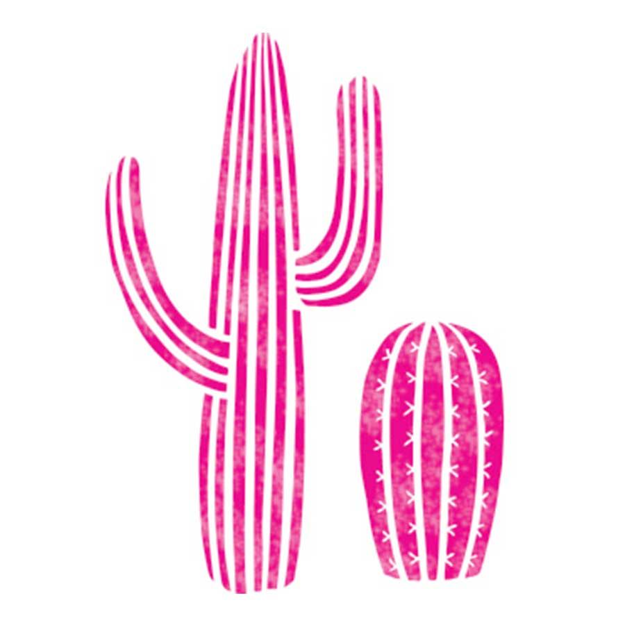 Pochoir textile Cactus - 28 x 28 cm