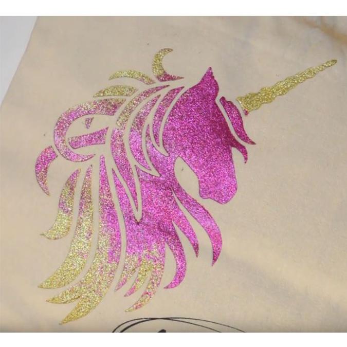 Pochoir textile Licorne - 28 x 28 cm