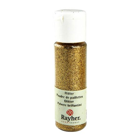 Poudre de paillettes irisées - Doré - 10 ml