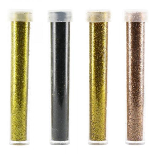 Paillettes - or, noir, bronze, cuivre - 4 x 3,5 g