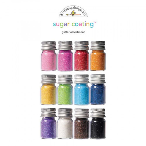 Paillettes Sugar Coating Glitter - Assortiment - 12 flacons
