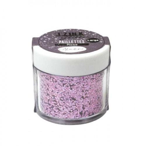 Paillettes Izink Glitter rose - 15 g
