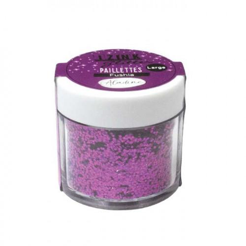 Paillettes Izink Glitter fuchsia - 15 g