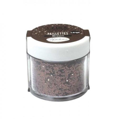 Paillettes Izink Glitter marron - 15 g