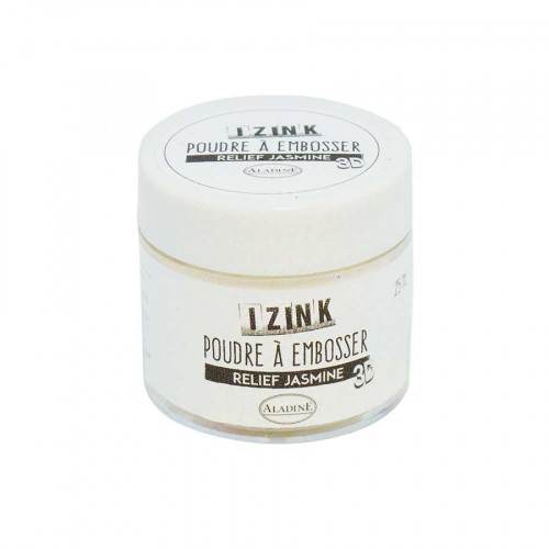 Poudre à embosser - Blanc Jasmine - 25 ml