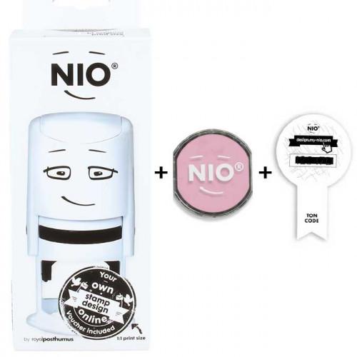 Tampon NIO avec son encreur - soft pink