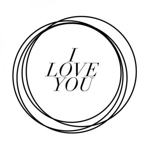 Tampon NIO - I Love you (cercles)