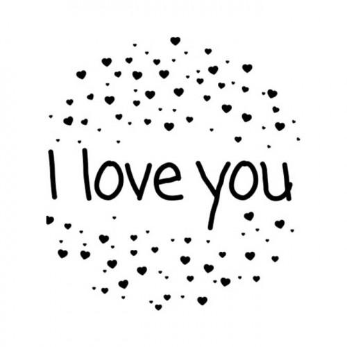 Tampon NIO - I Love you (cœurs)