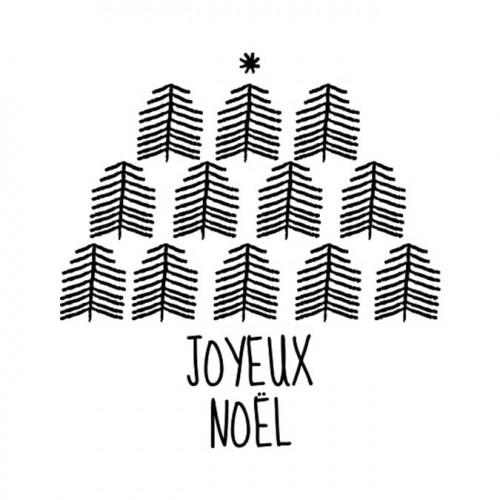 Tampon NIO - Joyeux Noël (forêt)