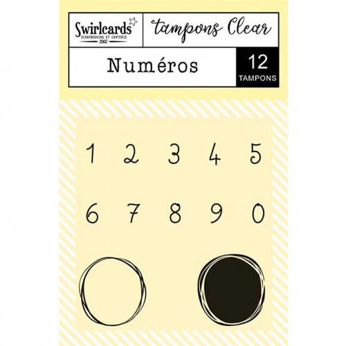 Tampons Clear - Numéros - 12 pcs