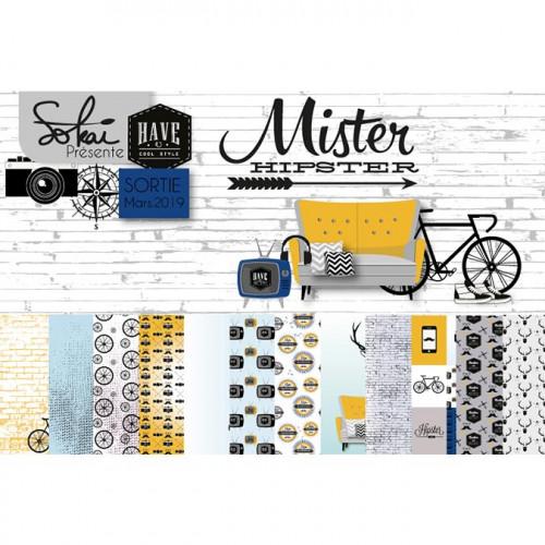 Set de 13 tampons transparents Mister Hipster