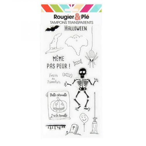 Set de 15 tampons transparents Halloween