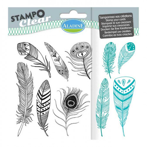 Stampo Clear - Plumes - 10 tampons