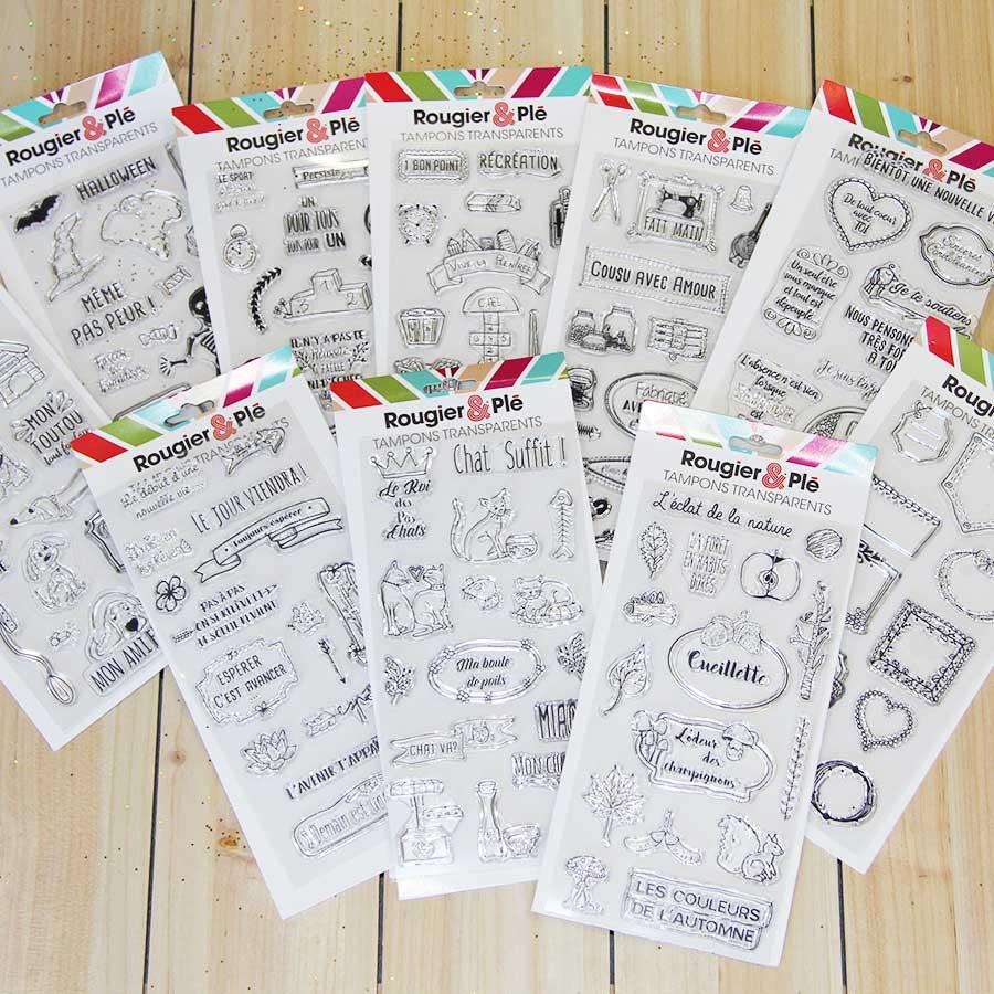 Set de 17 tampons transparents Rentrée