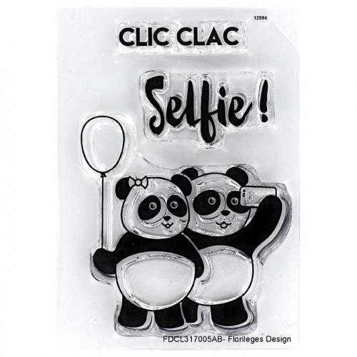 Capsule Février 2017 - Set de 3 tampons clear - Selfie Pandas