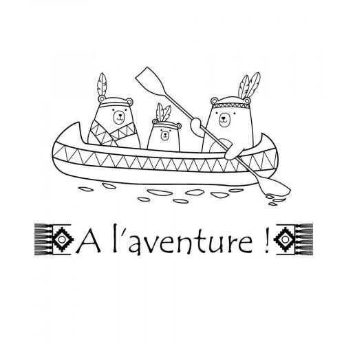 Set de tampons Clear - Totem - A l' aventure - 2 pcs