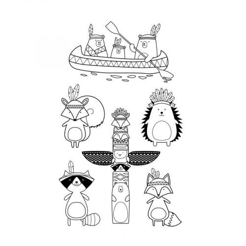 Set de tampons Clear - Totem - Grand Manitou - 6 pcs