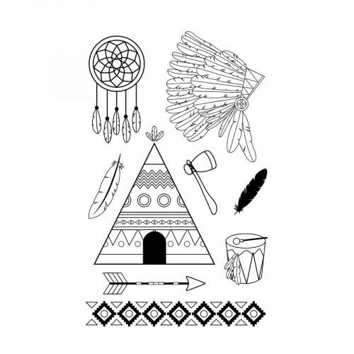 Set de tampons Clear - Totem - Indian summer - 9 pcs