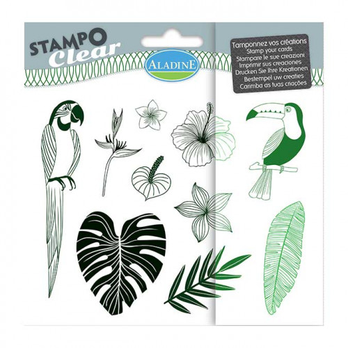 Stampo Clear Jungle - Set de 10 tampons