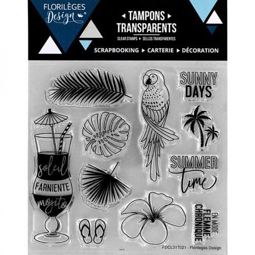 Capsule Juillet 2017 - Set de 11 Tampons Clear - Soleil et Mojito