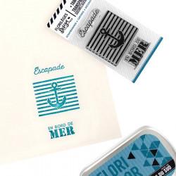 Tampon transparent En bord de mer - 3 pcs