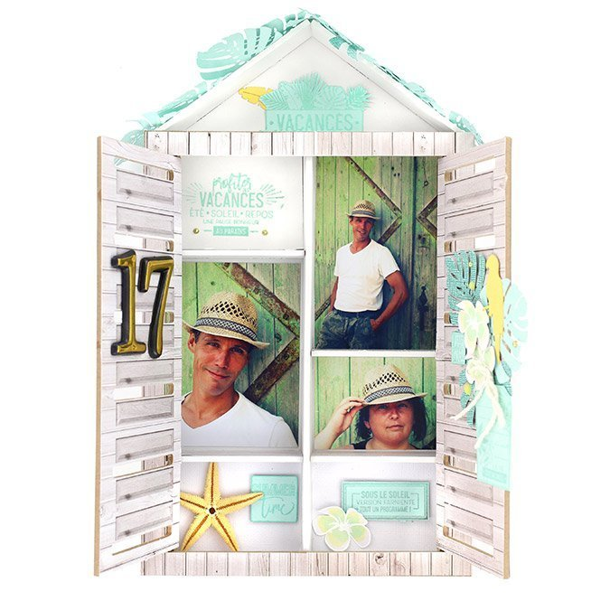 Capsule Juillet 2017 - Tampon Clear - Vacances de rêve - 7,5 x 5 cm