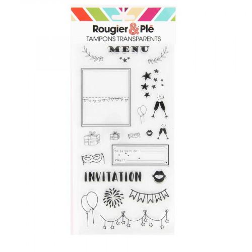Set de 21 tampons transparents Invitation
