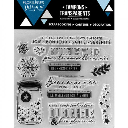 Tampons clear Vœux étoilés - 12 pcs