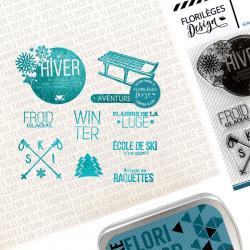 Set de 10 tampons transparents Sports d'hiver
