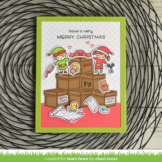 Tampons Clear Elfes de Noël