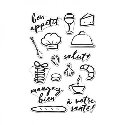 Bon Appétit - Set de tampons clear