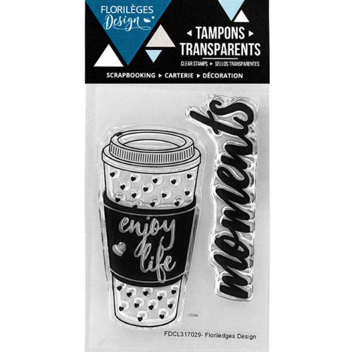 Capsule Octobre 2017 - Tampons Clear - Moments café - 2 pcs