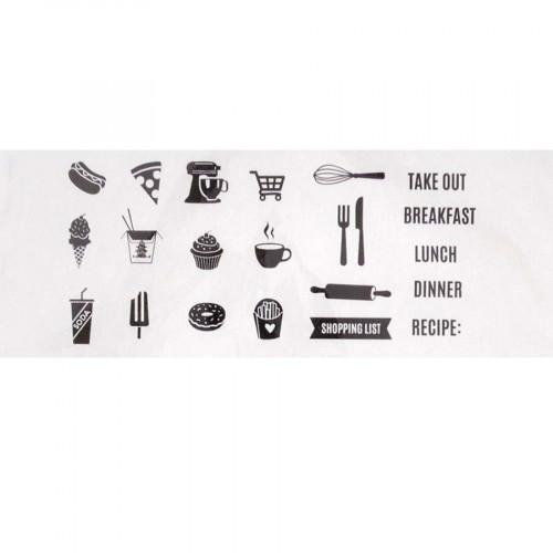 Set de 21 Tampons transparents Nourriture