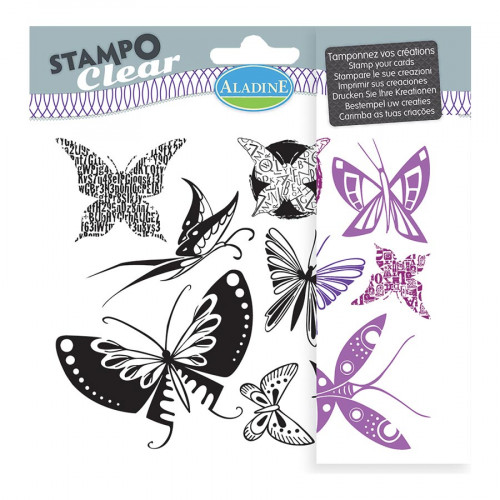 Stampo Clear - Set de 9 Tampons - Papillons