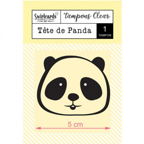 Tampon Clear - Tête de Panda