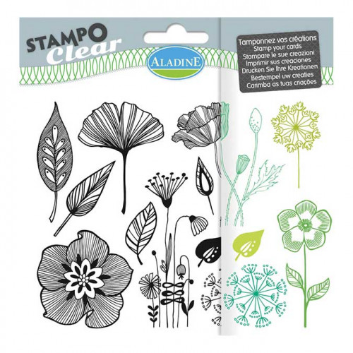 Stampo Clear - Fleurs - 12 tampons