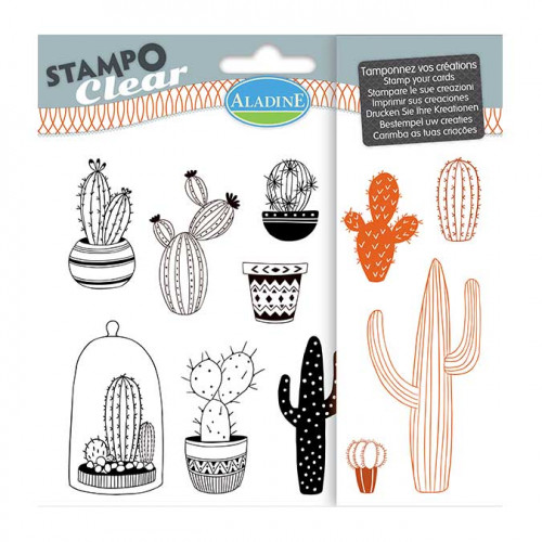 Stampo Clear Cactus - Set de 11 tampons