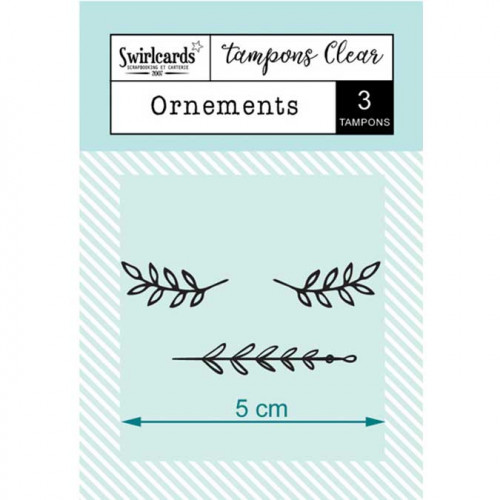 Tampons Clear - Ornements - 3 pcs