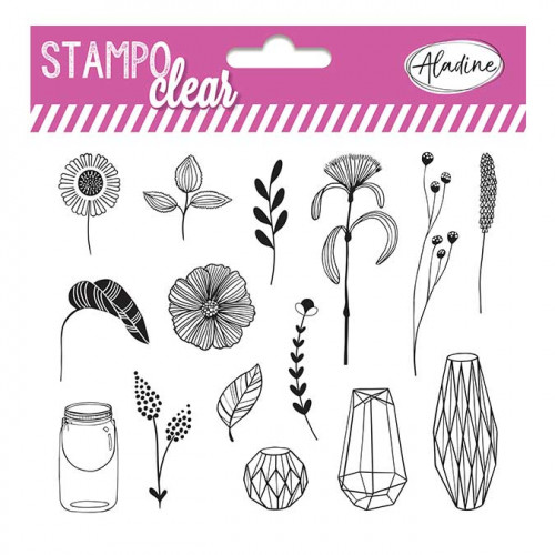 Tampons transparents Stampo Clear Botanic