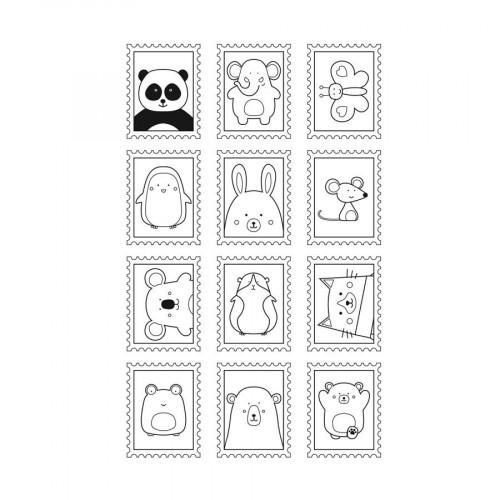 Set de tampons Clear - Adorable - Timbre - 12 pcs